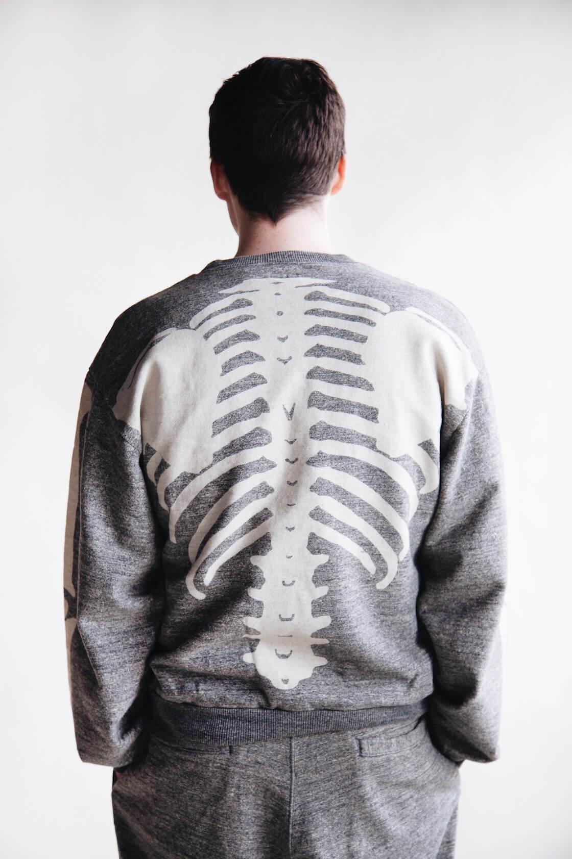 kapital big bones sweatshirt on body