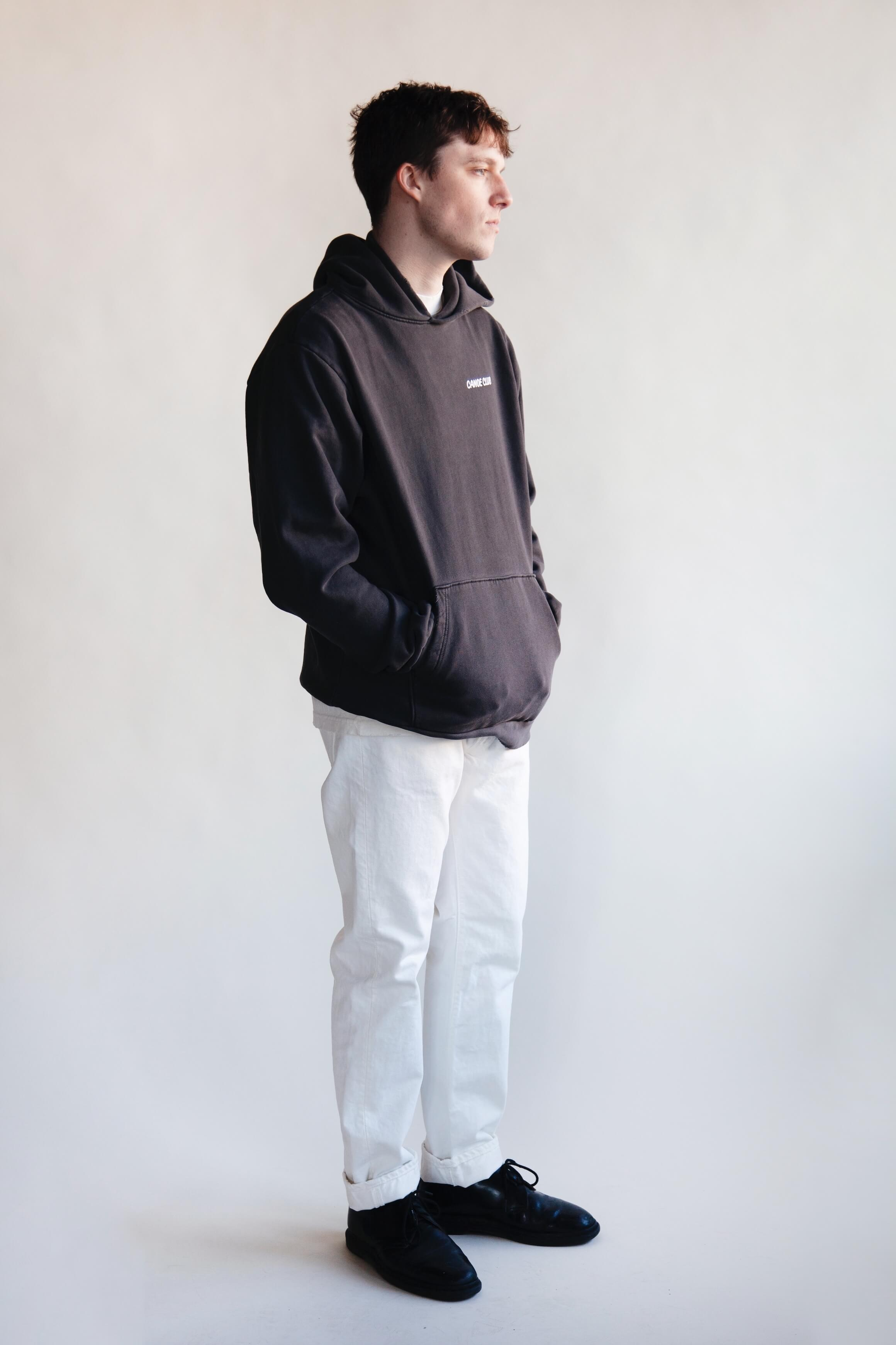 orslow 107 Ivy Denim - White on male model