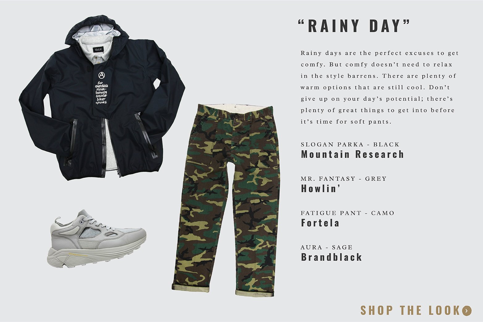 what to wear featuring mountain research, howlin, fortela and brand black