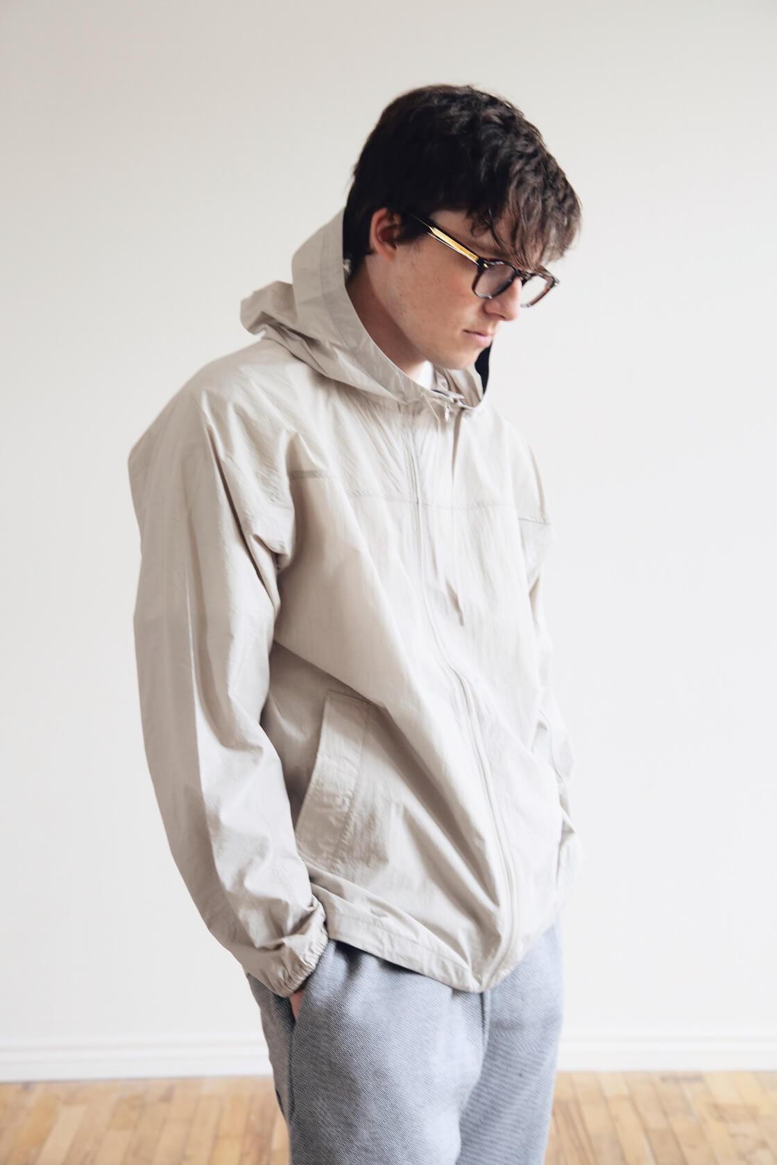 nanamica cruiser jacket, byborre tapered crop pants and visvim fkt runner shoes on body