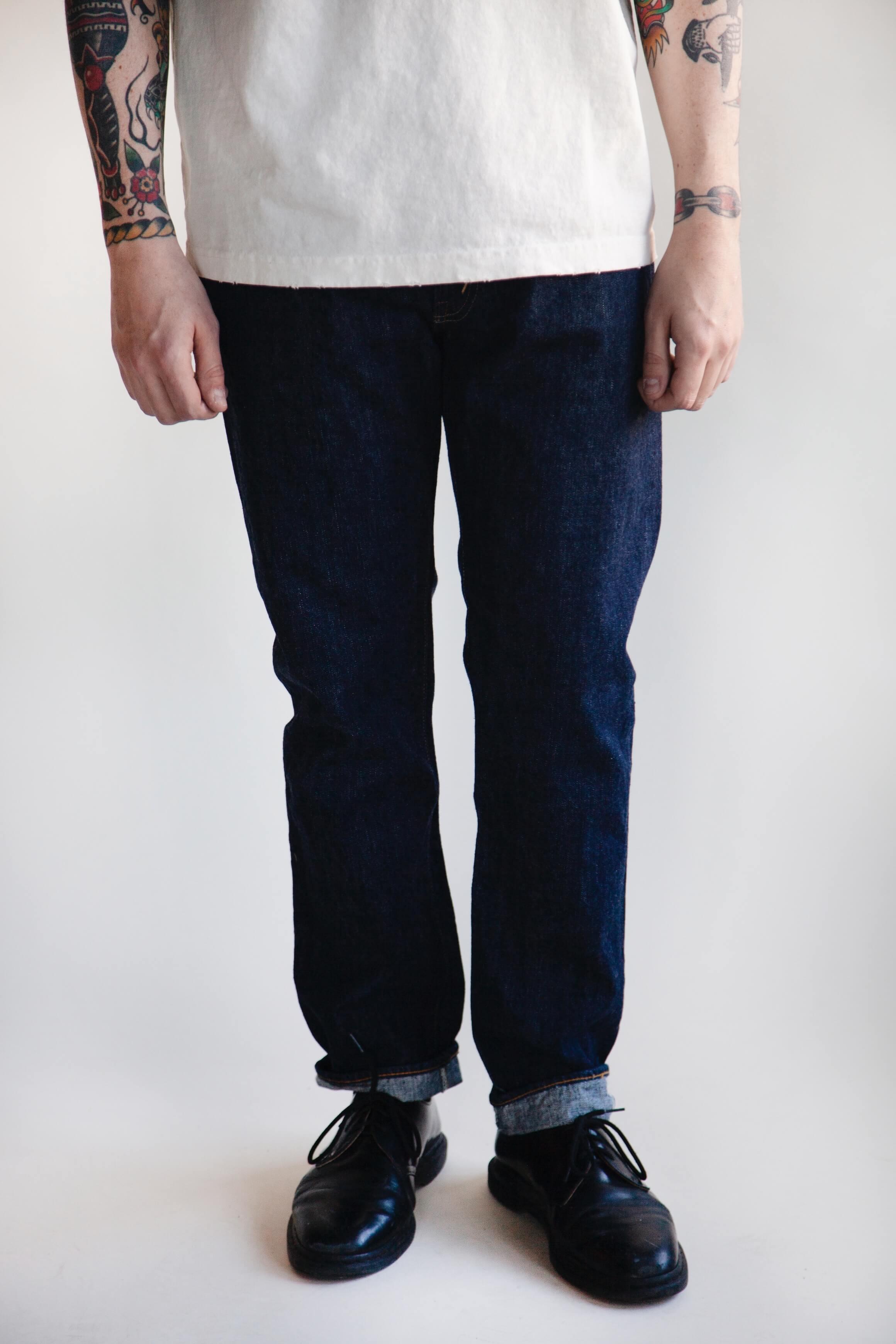 orslow 105 Standard Denim - One Wash on male model