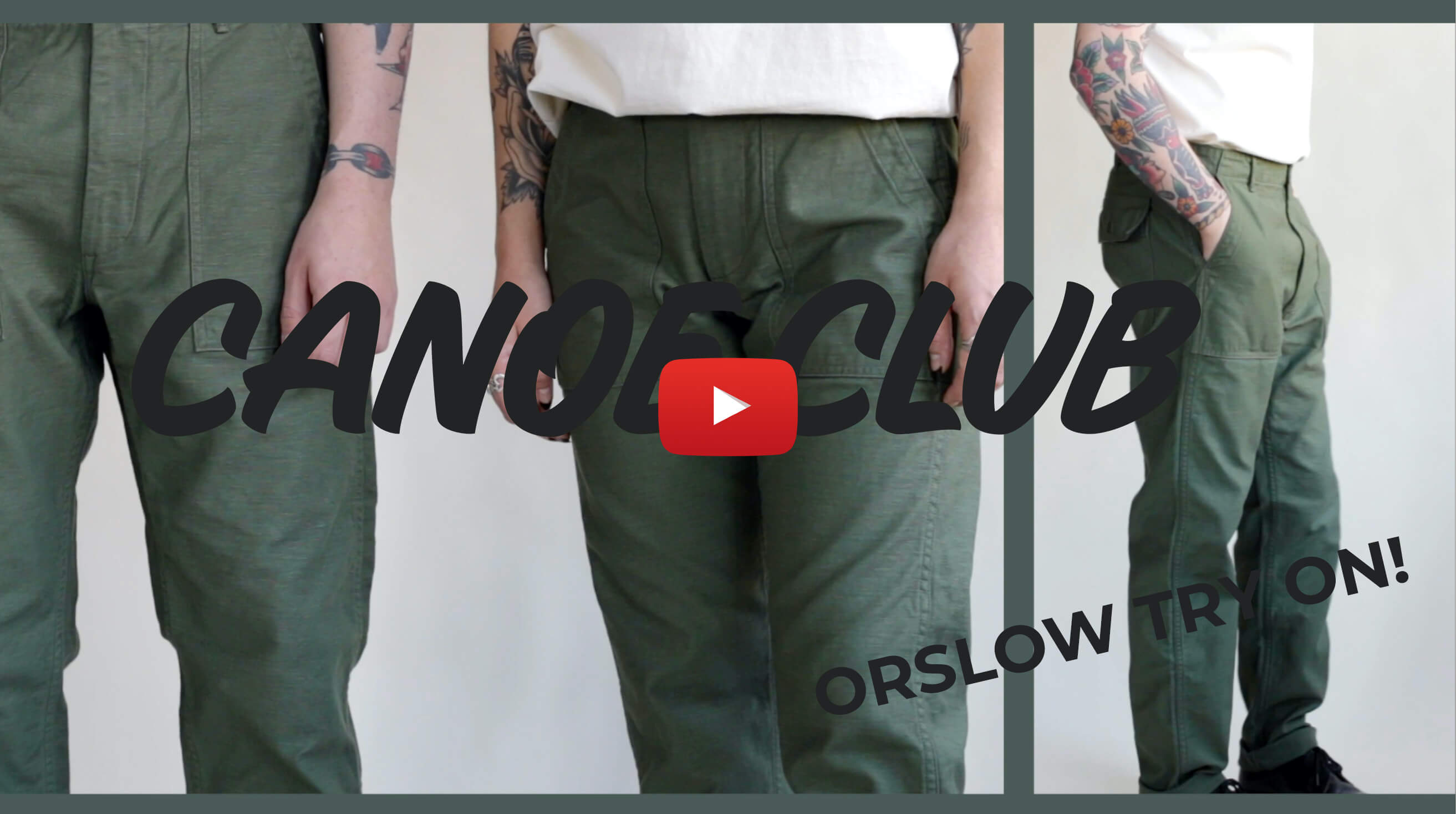 video for orslow core pants try-on
