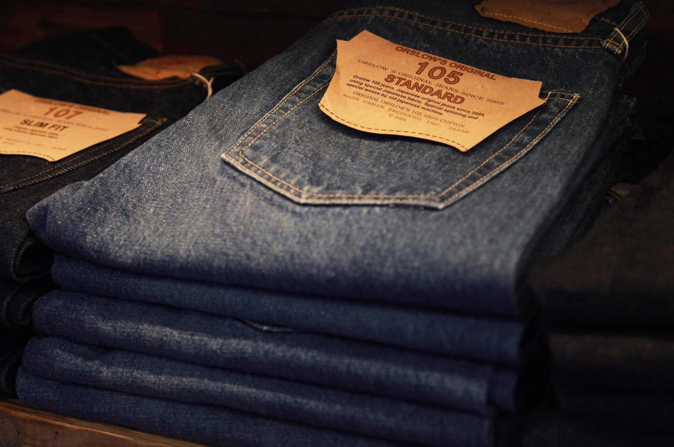 orslow 105 and 107 denim jeans