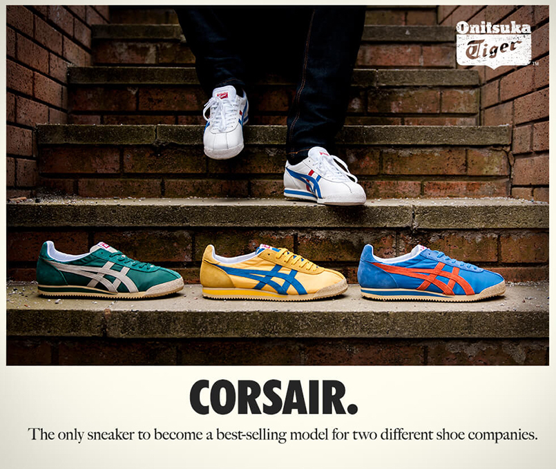 after the court settlement, onitsuka tiger had to rename the tiger cortez to the tiger corsair