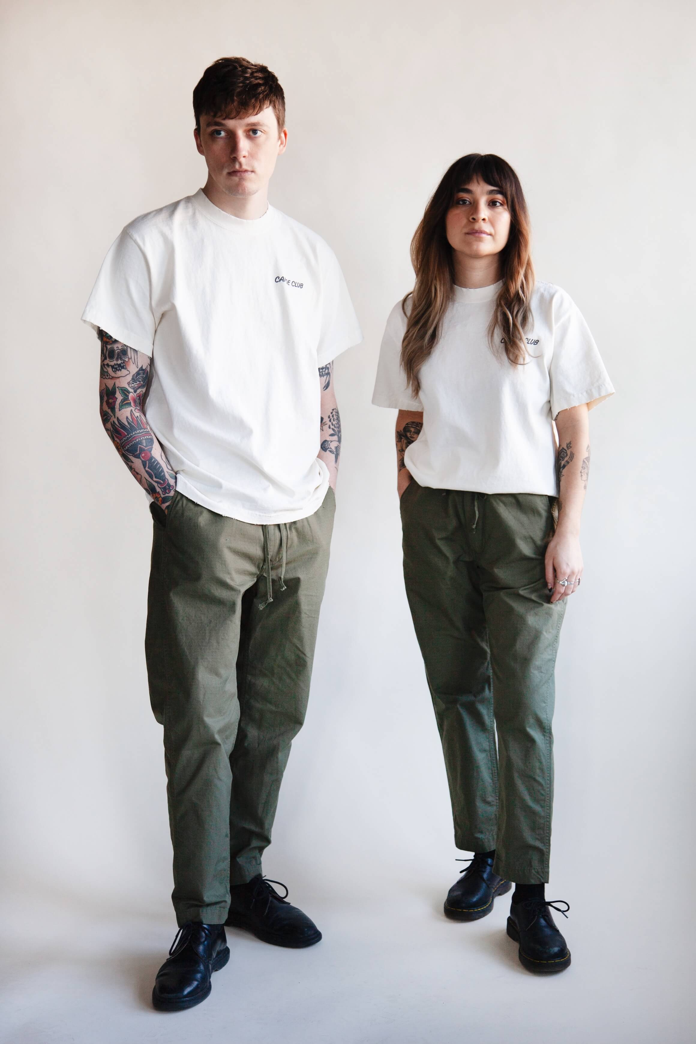 orslow new yorker pant on male and female models