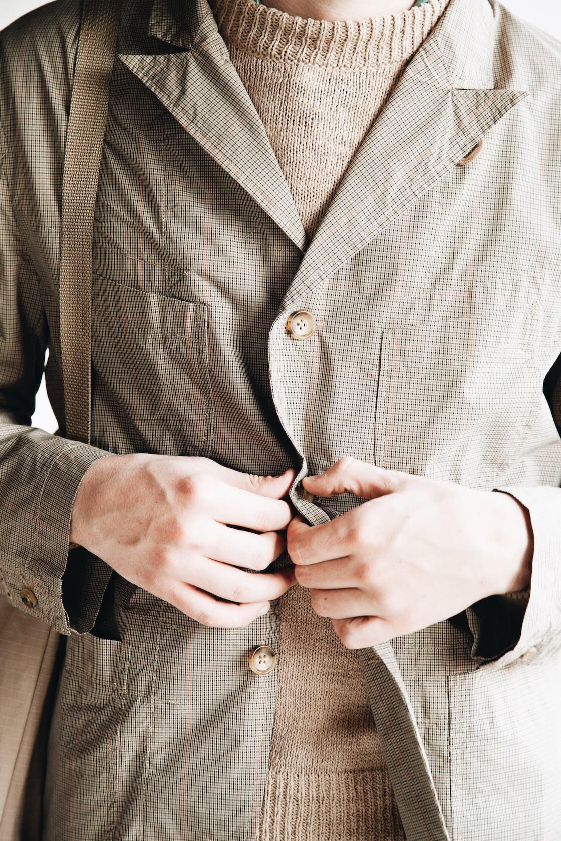 engineered garments new bedford nb jacket on body