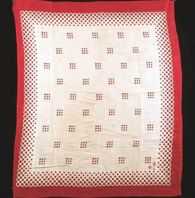 1890s turkey red bandana from the 1890s