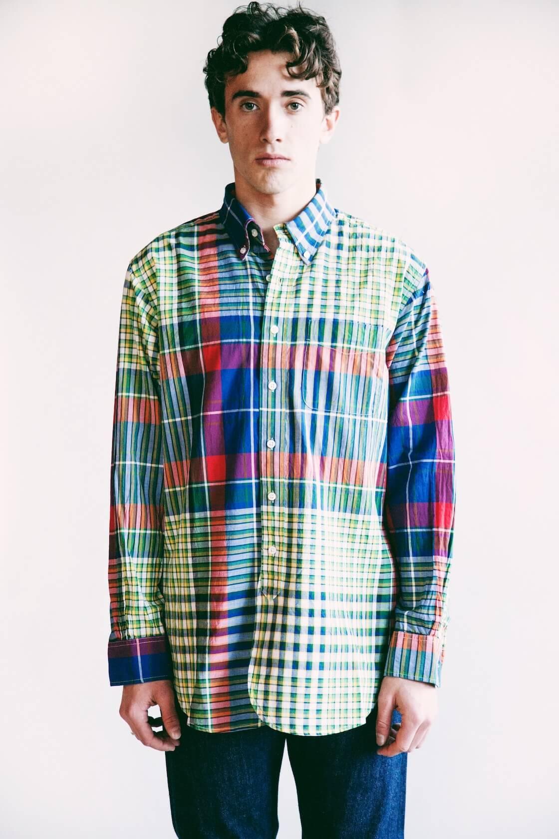 engineered garments 19th century bd shirt on body