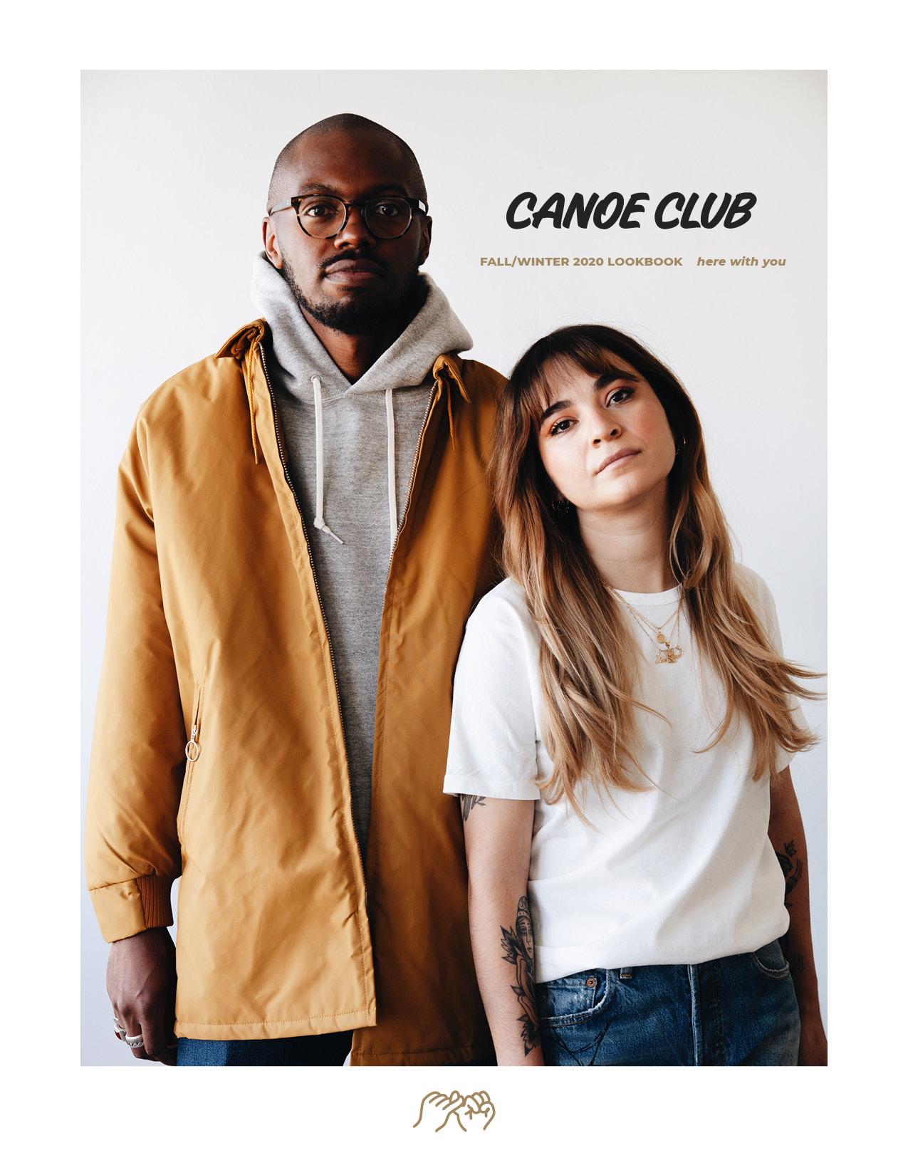 canoe club fall/winter 2020 lookbook