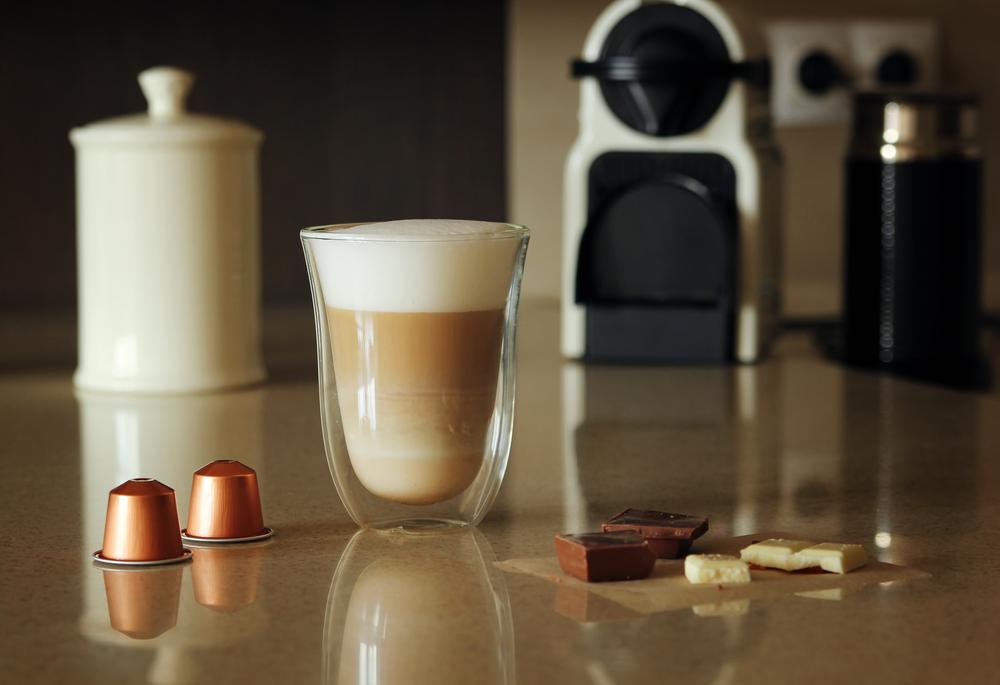 Latte with Nespresso machine