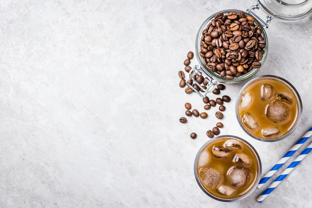 Coffee beans and drinks