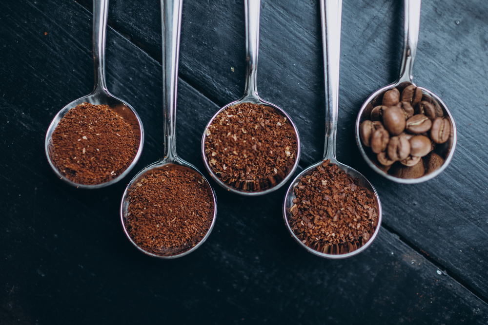 Spoons of coffee