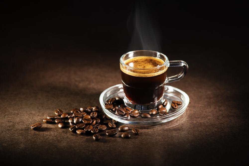 A hot cup of espresso