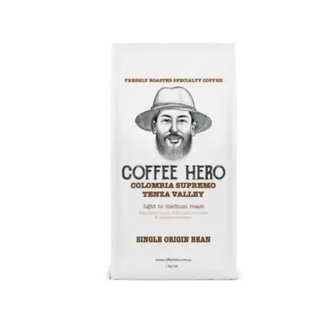 Freshly roasted Colombian beans from Coffee hero