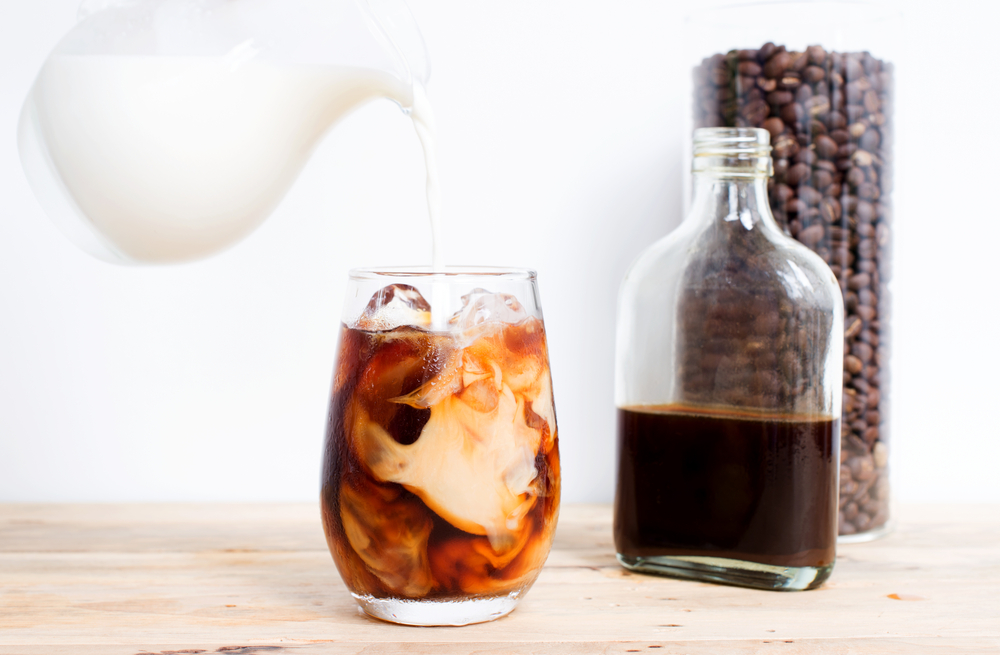 Serving cold brew with milk