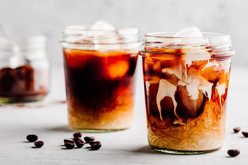 Sweet vanilla cold brew coffee