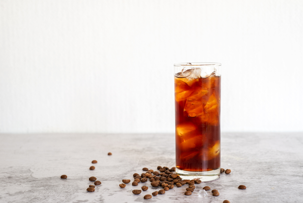 Coffee concentrate mixed with ice