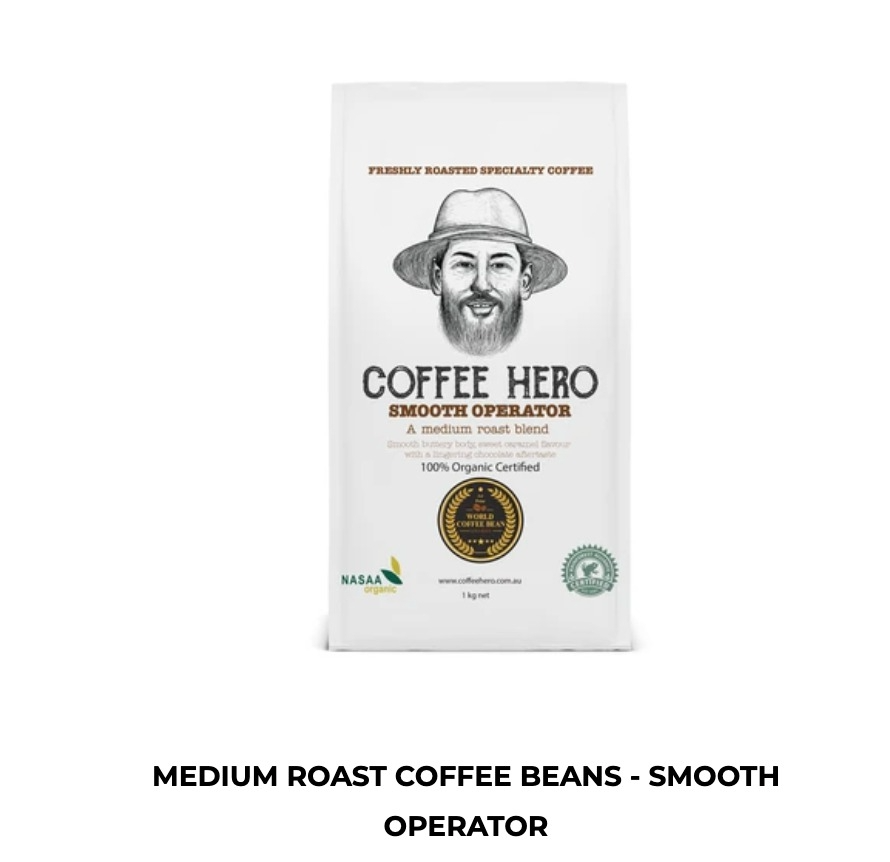 Freshly roasted coffee beans from coffee hero