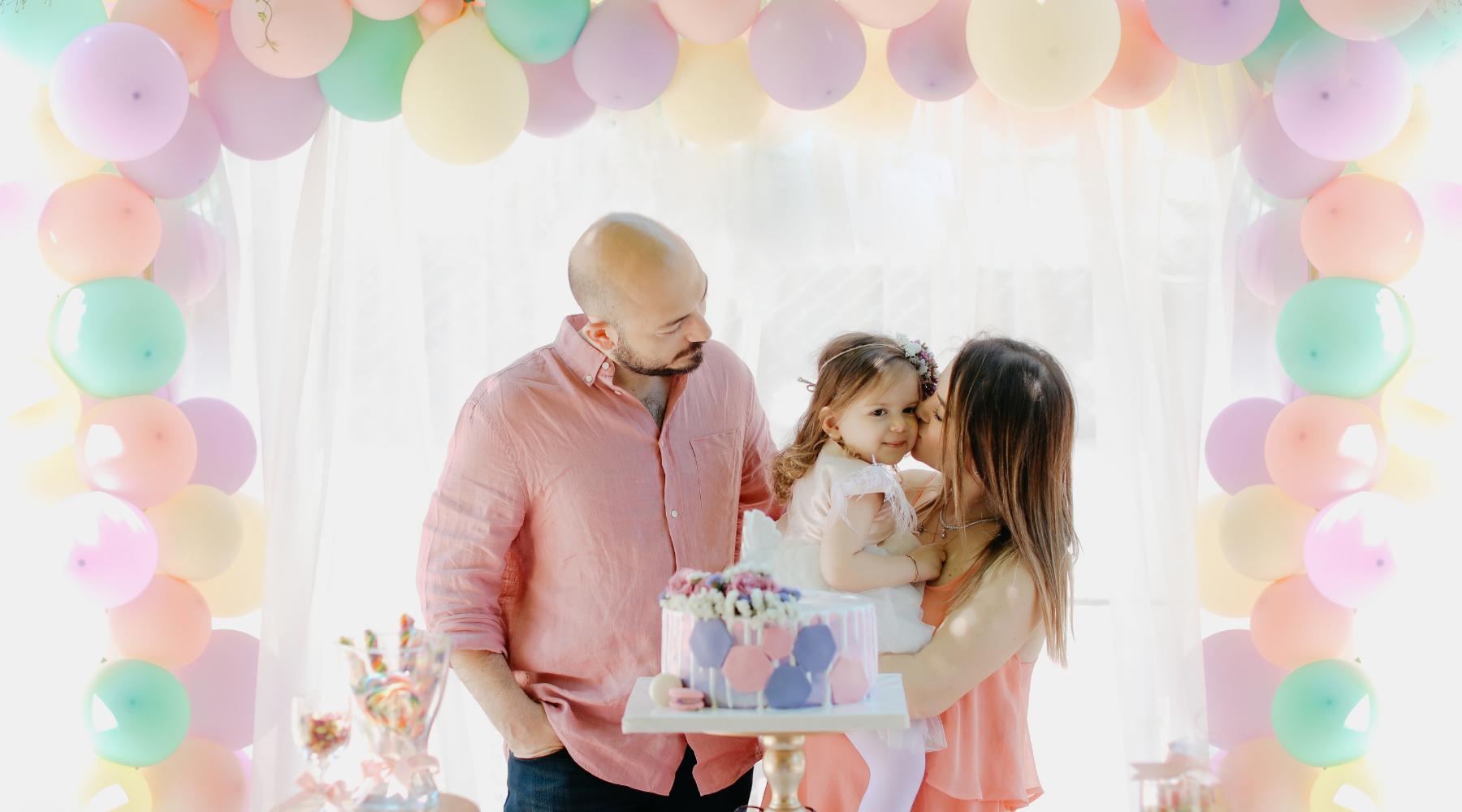Unicorn-themed Birthday balloon garland