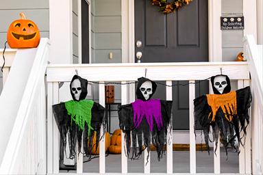 Halloween Porch Witch Decor