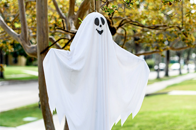 Floating White Ghost Linens