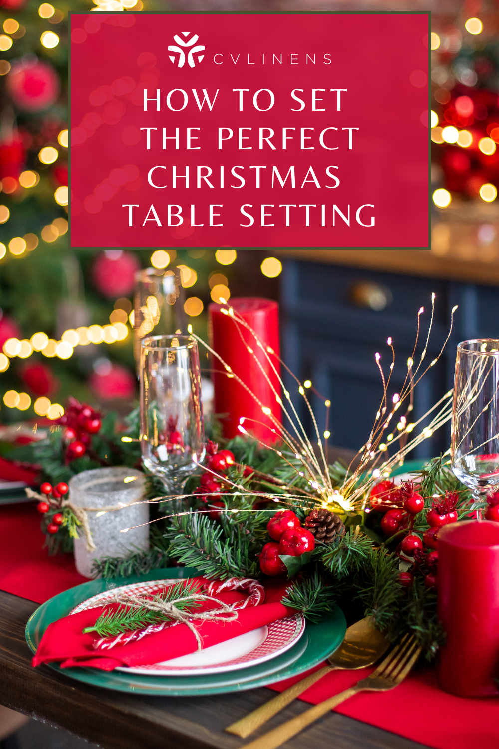 How to set the perfect Christmas table setting?