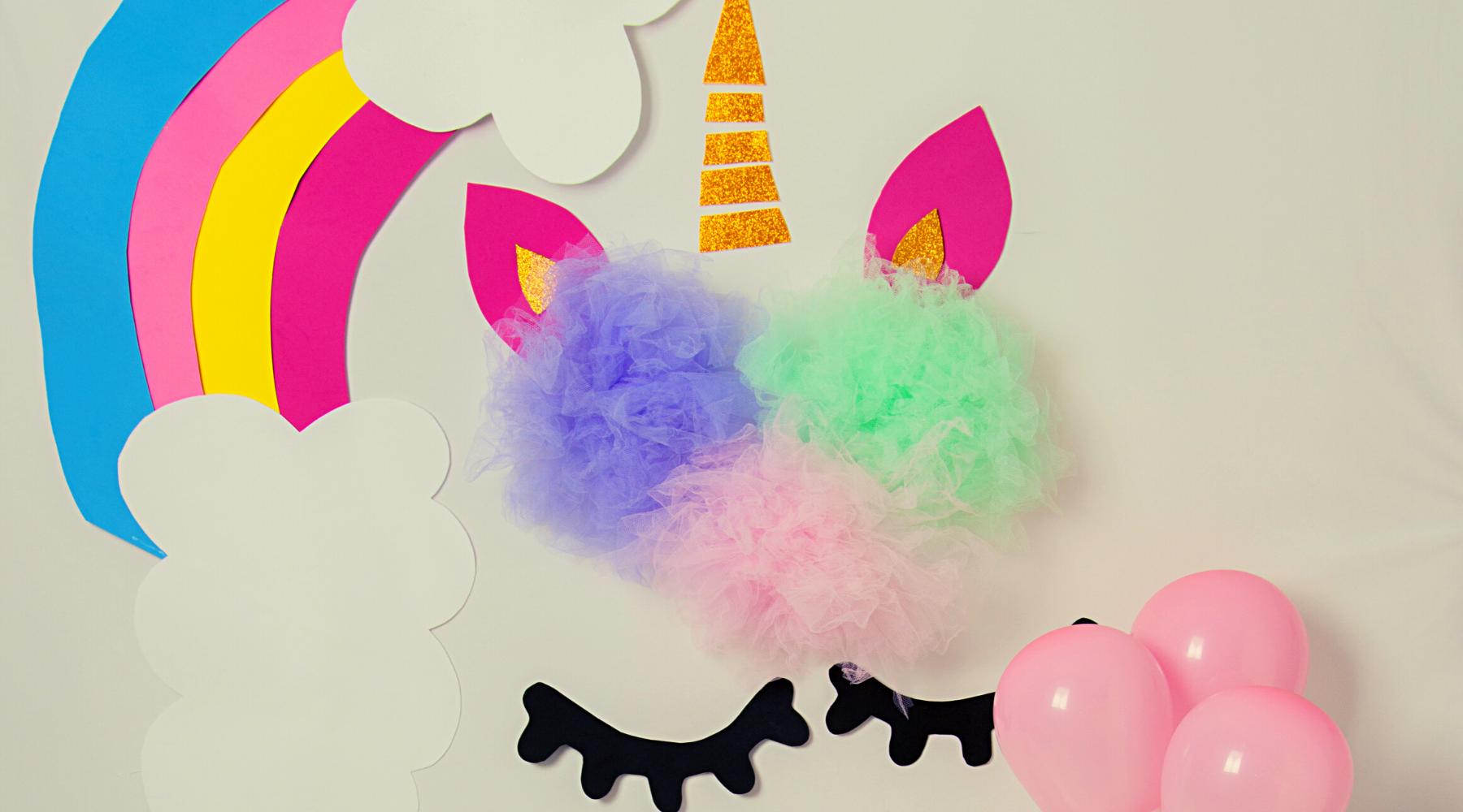 DIY unicorn on wall decoration