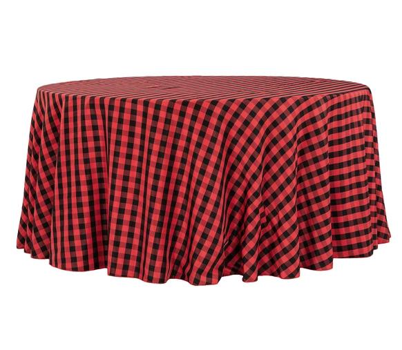 Buffalo Plaid Christmas tablecloth