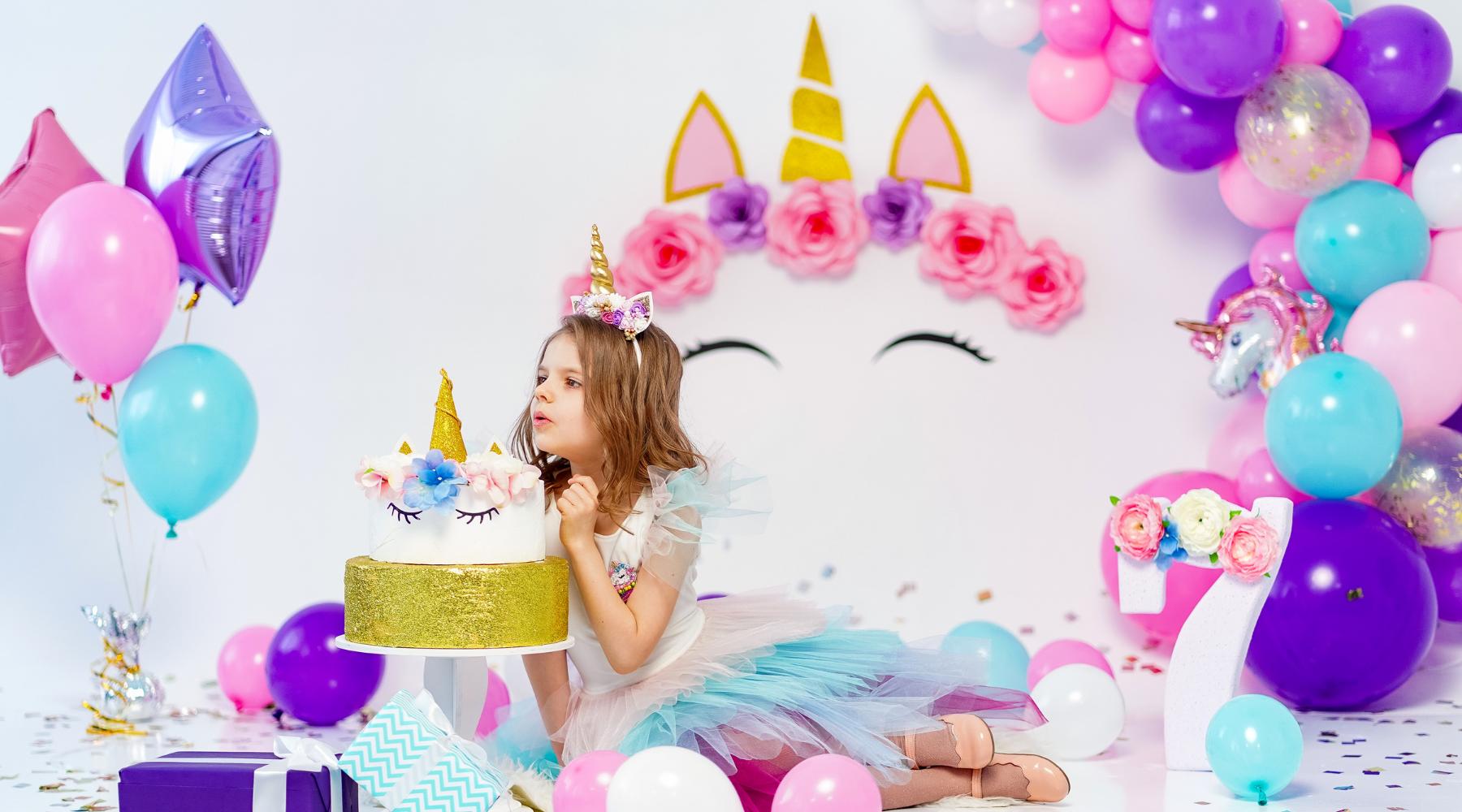 Unicorn birthday setup