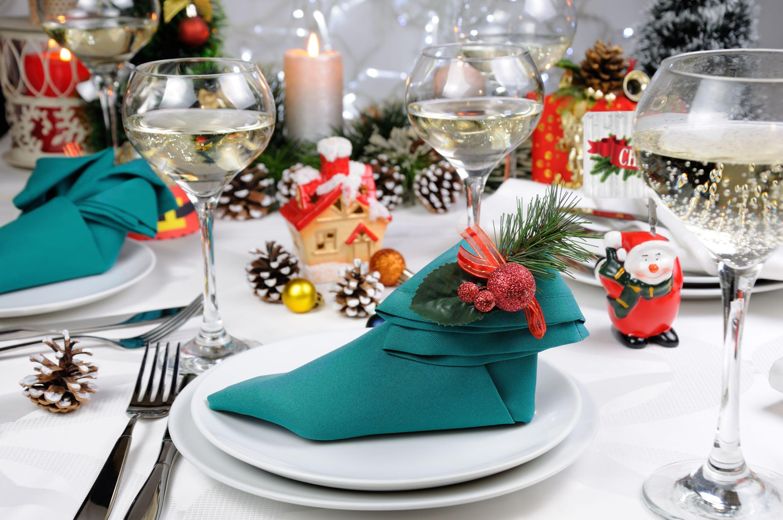 Polyester Linen Napkin in Elf Shoe Fold