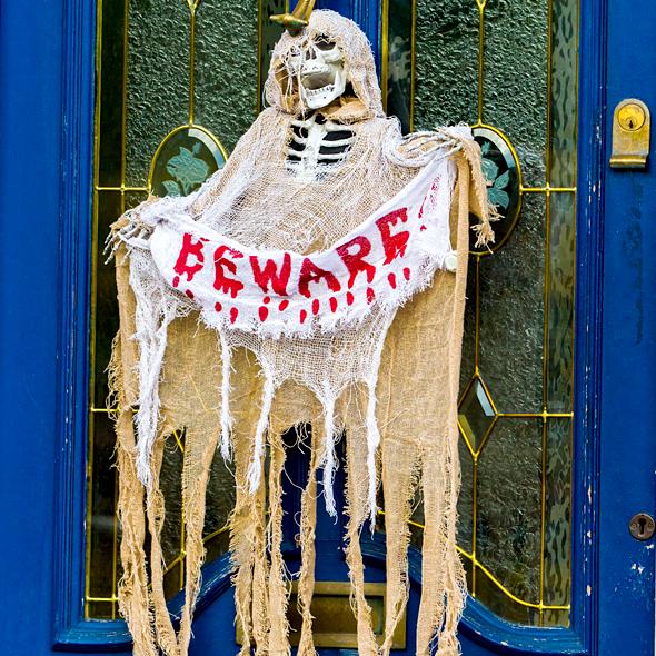 Burlap Halloween Door Decor