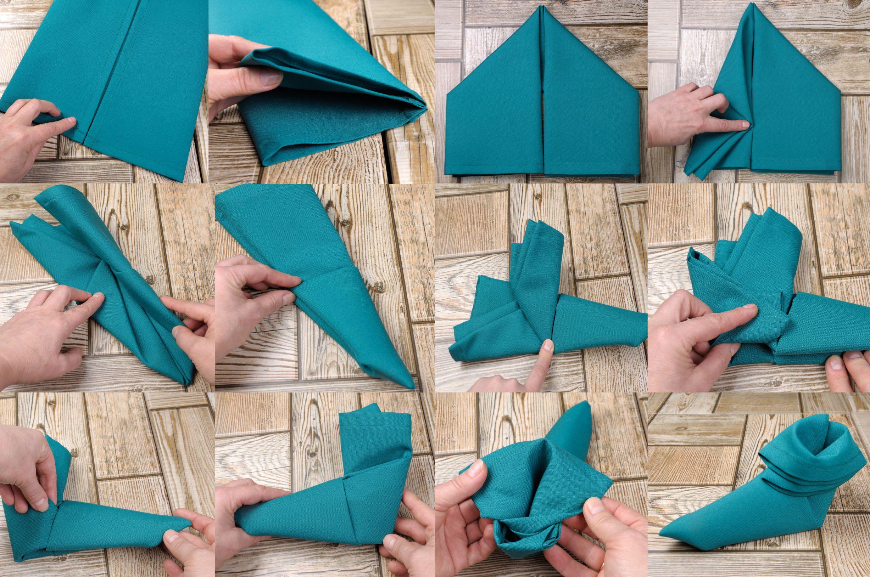 Elf Hat Table Napkin Fold
