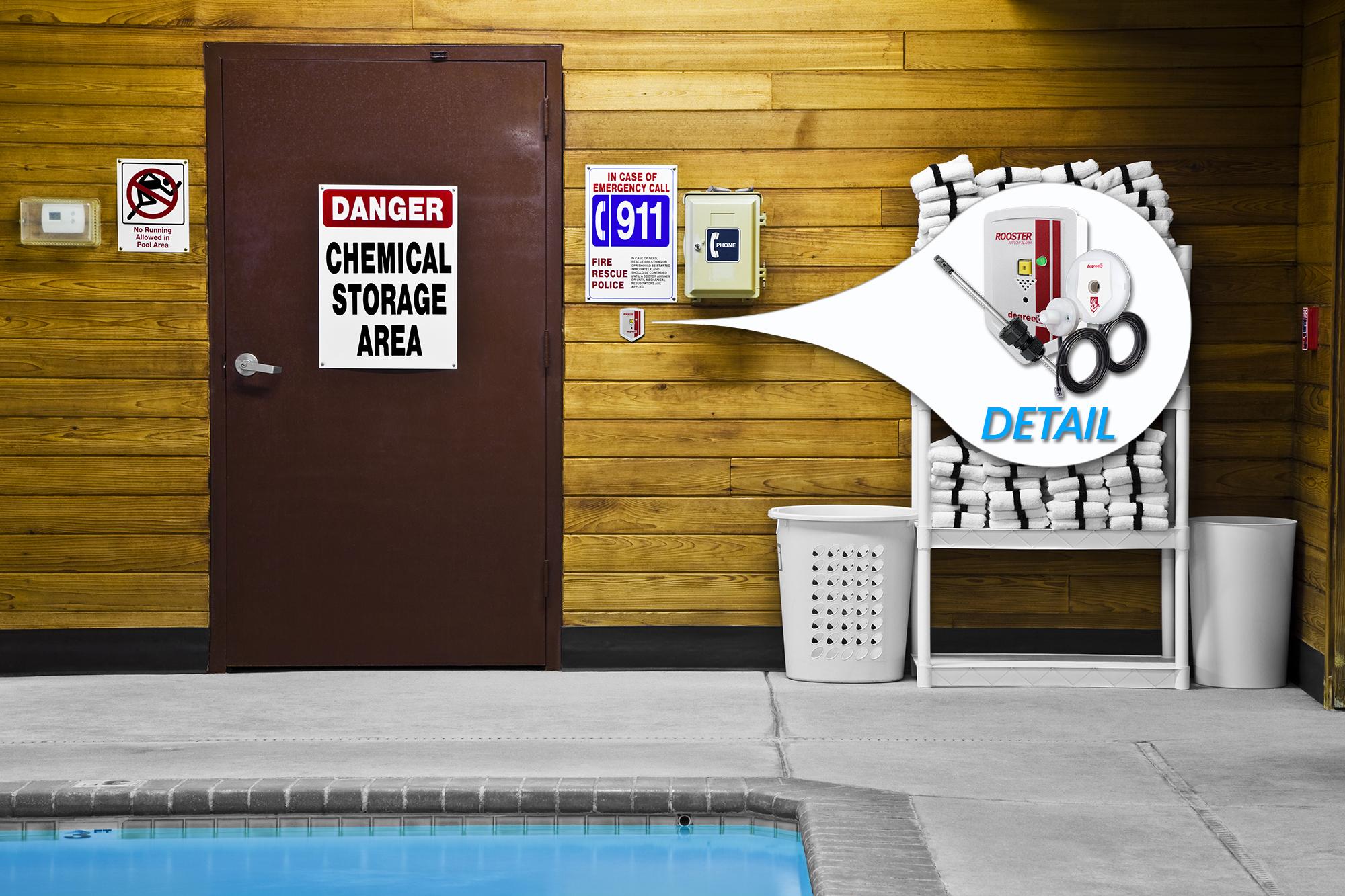 Pool Chemical Storage Alarm