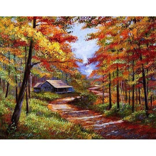Herbst Landschaft Malen nach Zahlen