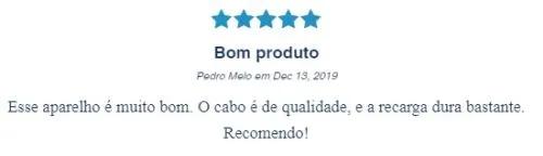 Imagem com comentário positivo quanto ao The Razor, da Dr. JONES: Bom produto, de Pedro Melo.