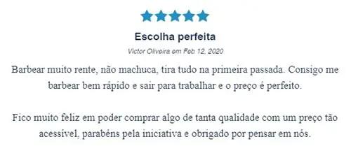 Imagem com comentário positivo quanto ao The Razor, da Dr. JONES: Escolha perfeita, de Victor Oliveira.