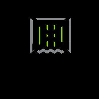 Imagem com bigode pequeno ao centro estilizado, em verde e cinza e com sinal de proibido em X, na cor preta.