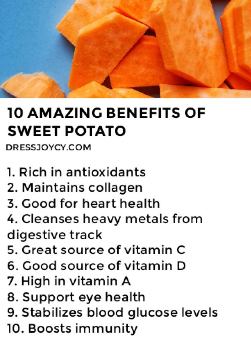 10 Amazing Benefits of Sweet Potato - Food Medicine
