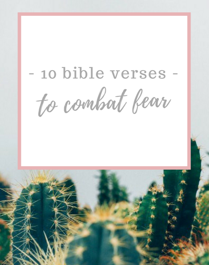 bible verses to fight fear
