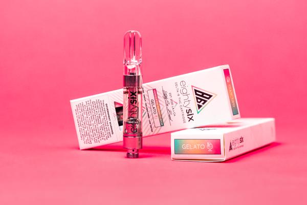 Gelato Delta-8 THC vape cartridge