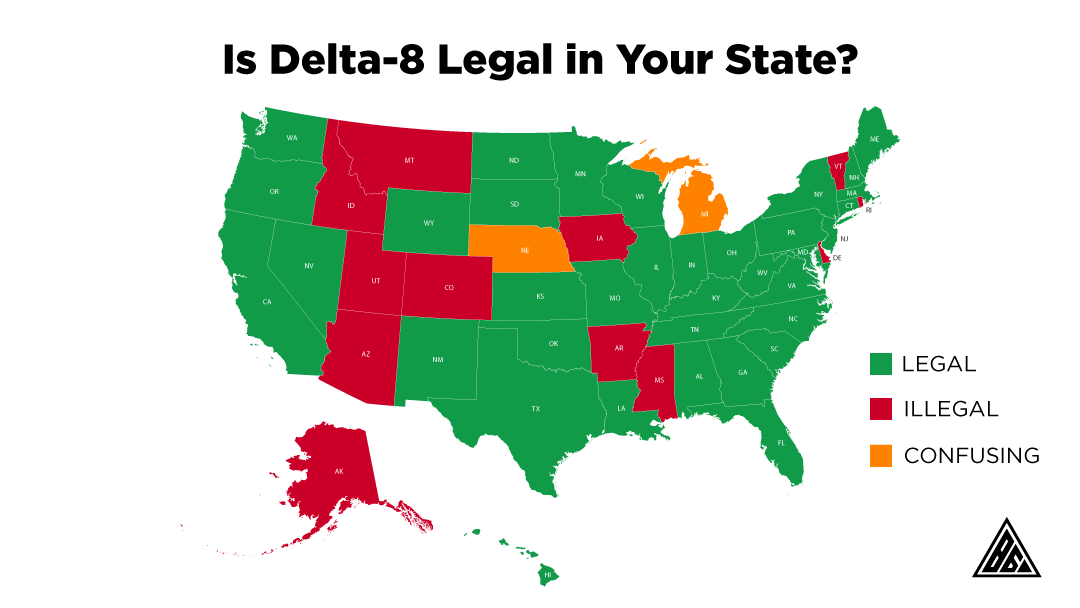 state by state breakdown of delta-8 legality
