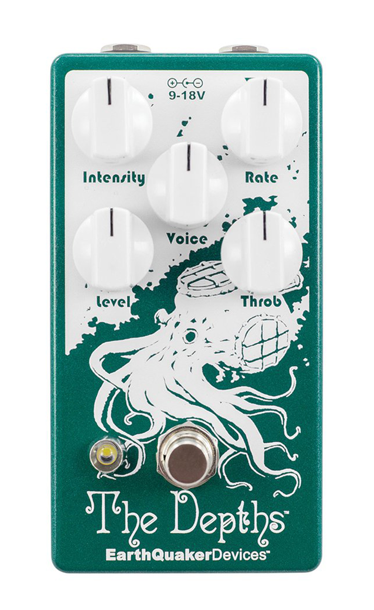 EarthQuaker Devices The Depths V2 Optical Vibe Machine Pedal