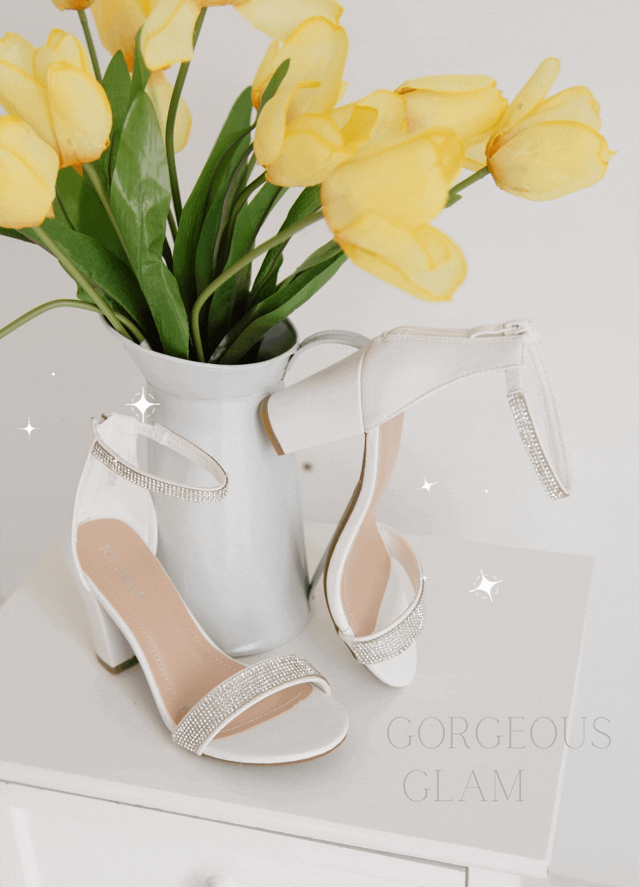 White Glam Heels