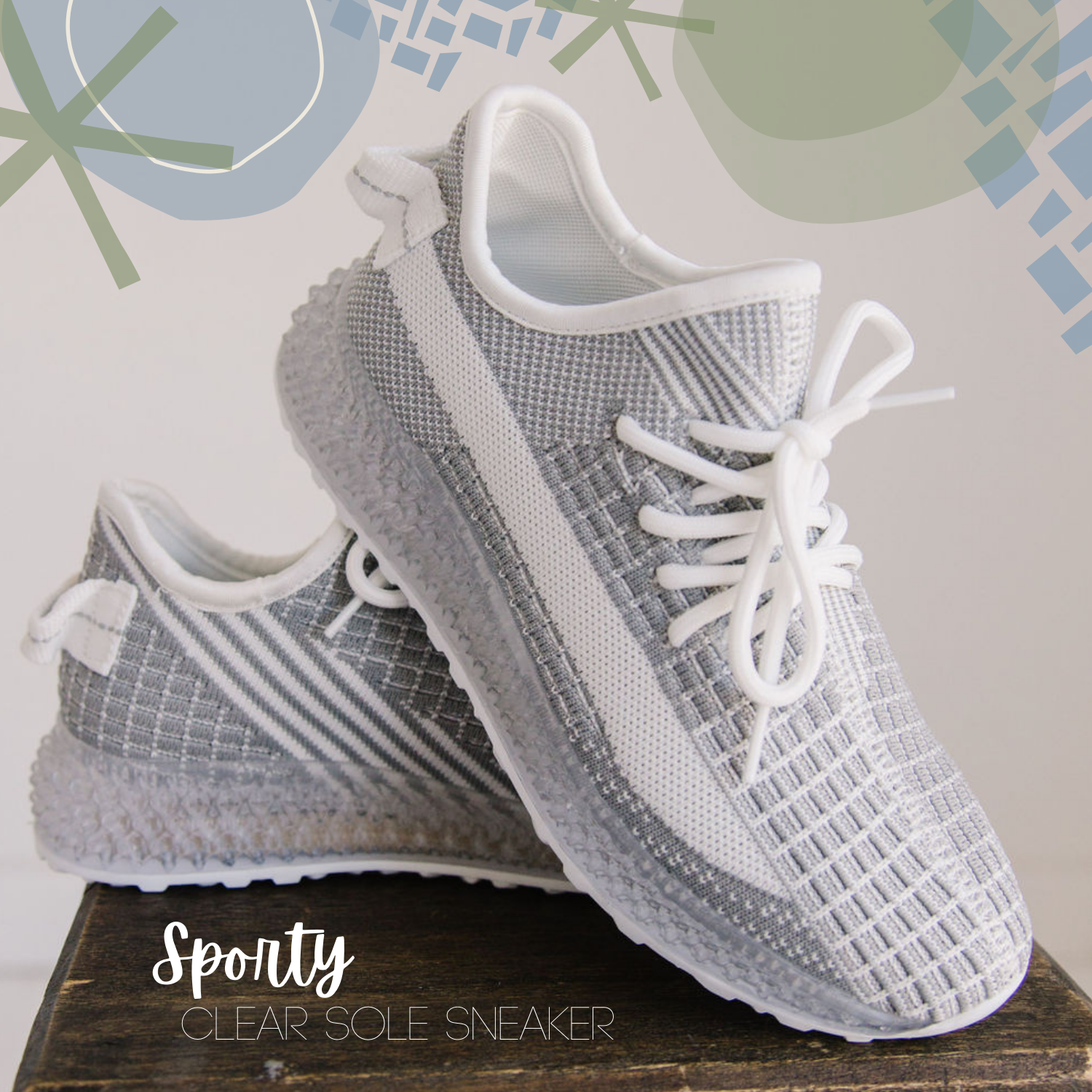 Grey and White Sneakers
