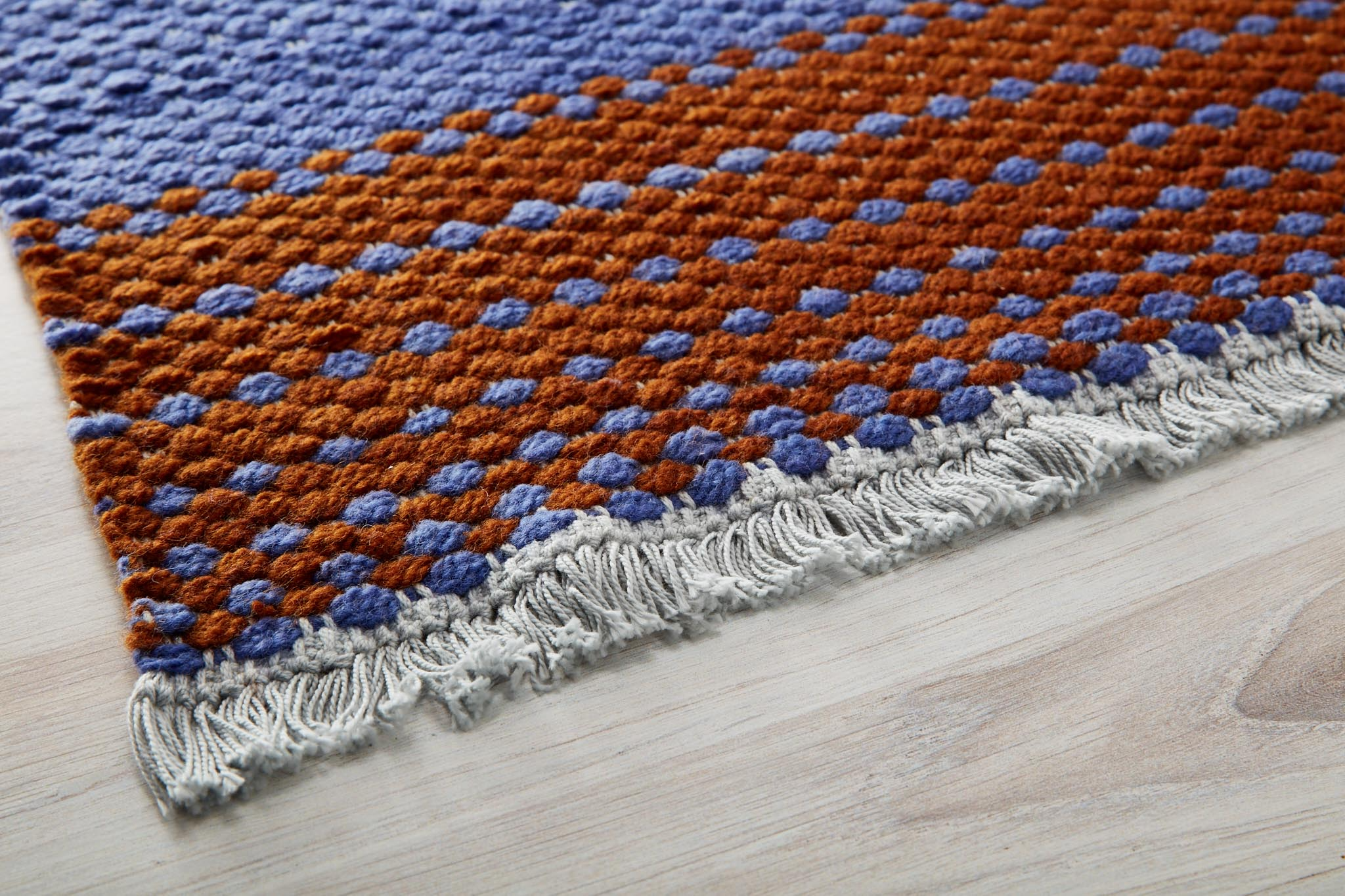 handwoven basketweave rug