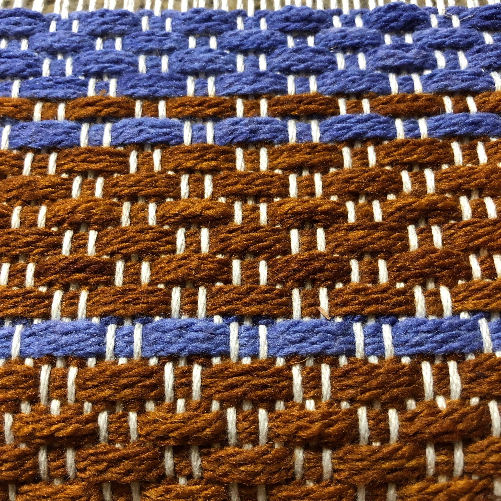 weaving the basketweave rug