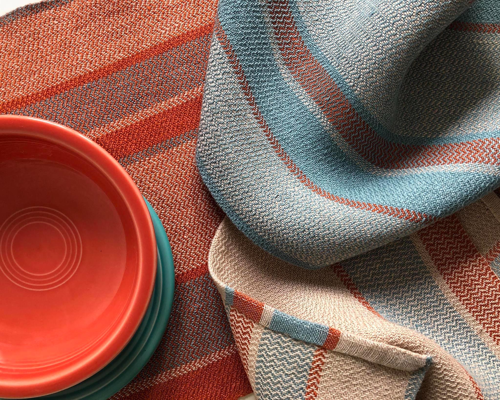 Handwoven Linen Towel Pattern