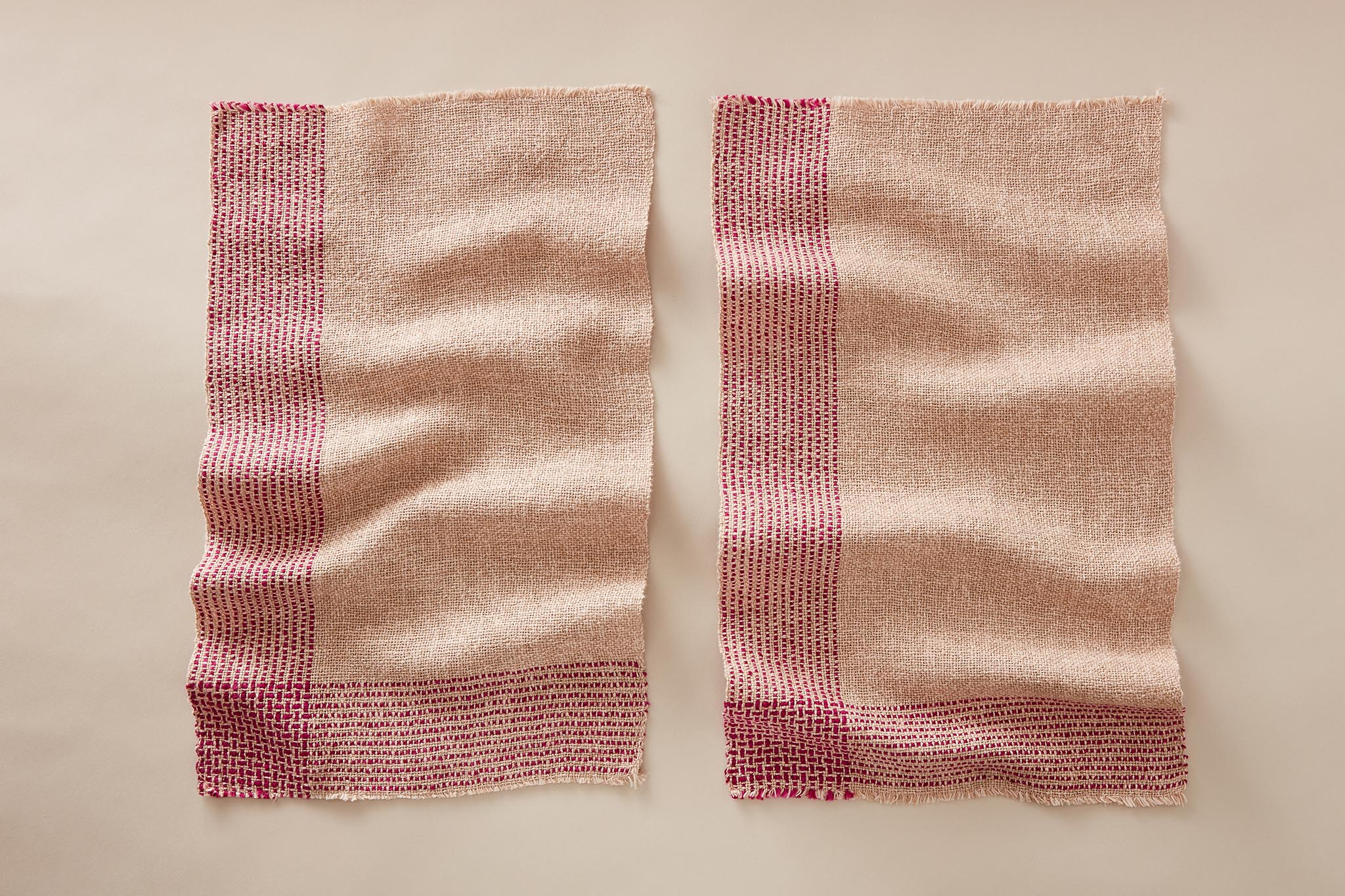 Handwoven Running Stitch Towels