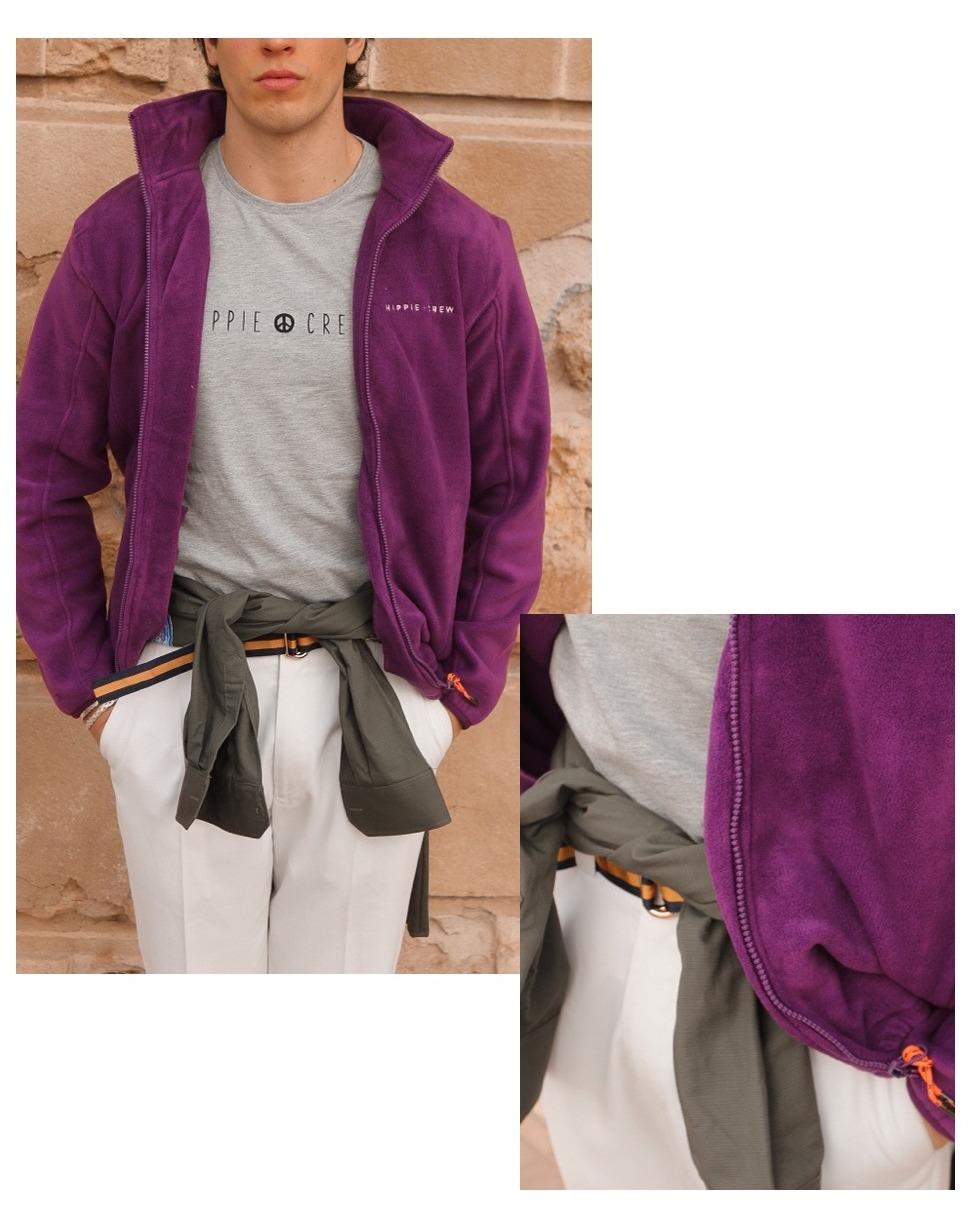 Chaqueta polar Hippie Crew púrpura