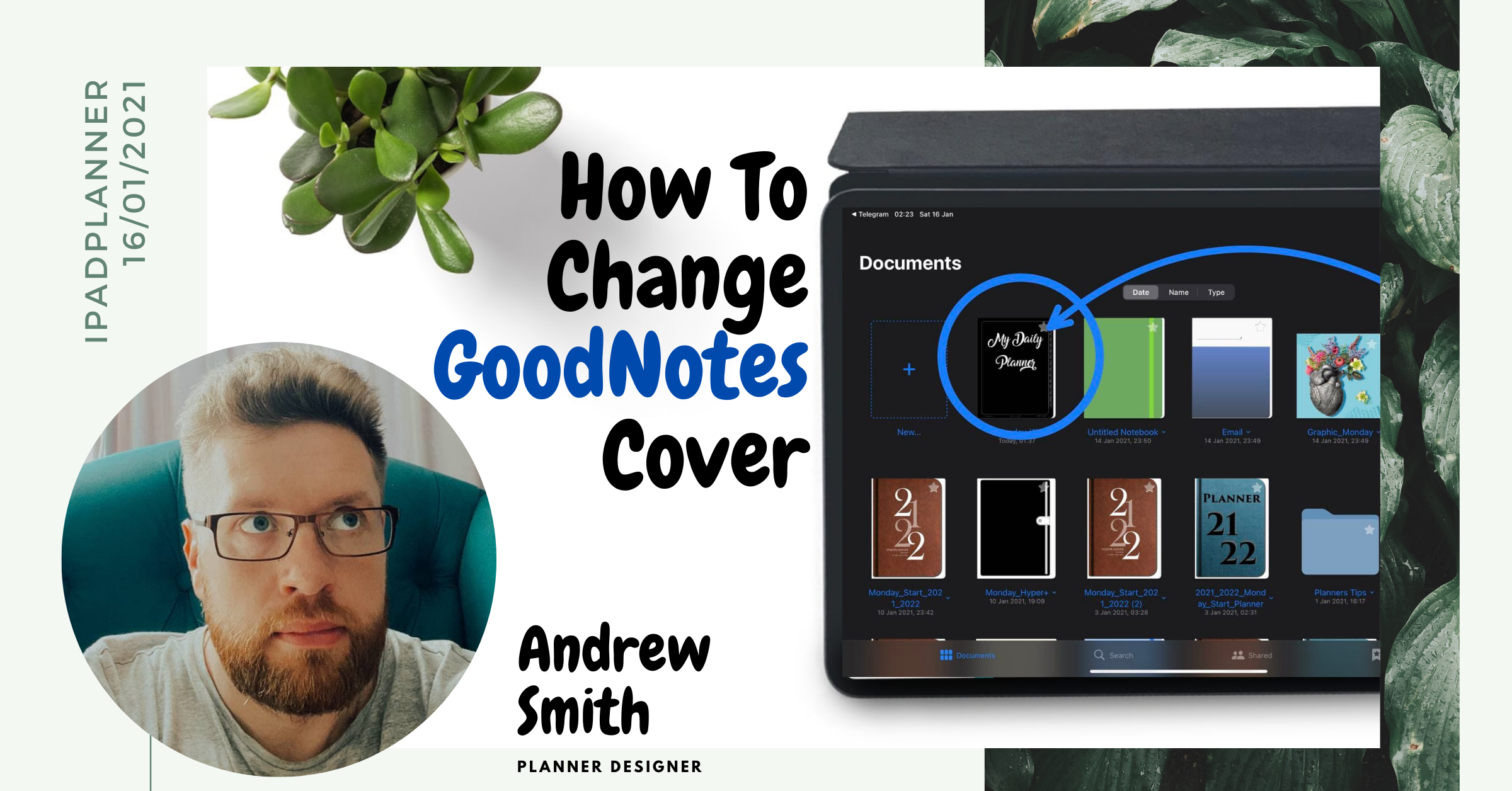 How To Change GoodNotes Notebook Covers or Planner Cover ipadplanner.com